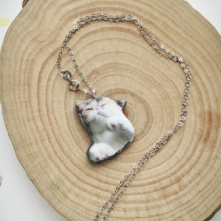 Sleeping Cat Jojo 925 Silver Handmade Stardust Necklace