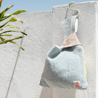 Graduation gift limited handmade cotton and linen stitching design wallet bag / clutch bag / color package / puzzle bag / linen bag / travel bag / mobile phone bag - watercolor floating water rendering play color packet