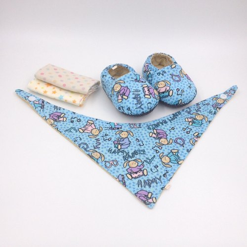 Bunny Orchestra - Miyue Baby Gift Box (toddler shoes / baby shoes / baby shoes + 2 handkerchief + scarf)