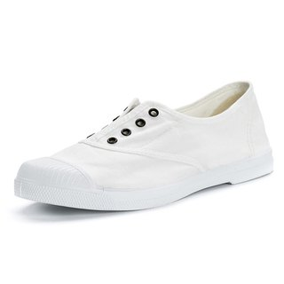 Spanish handmade canvas shoes / 102 four-hole classic / female models / white