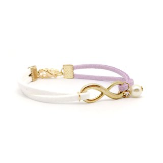 Handmade Infinity Bracelets Rose Gold Series– light purple limited