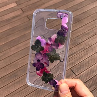 Samsung Galaxy S6 edge  Dry Pressed Flowers Case Purple Flower case 021