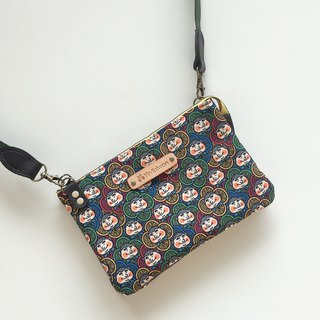 趴趴GO side back bag Wan Dingqi printing