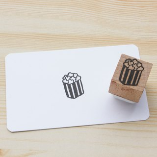 Hand engraved rubber stamp popcorn stamp stationery