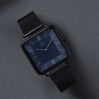 THIN 5011 Fashion Minimal Crystal Square Watch - Black