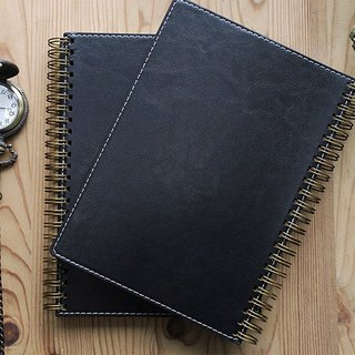 Spiral Planner-PU leather-Black
