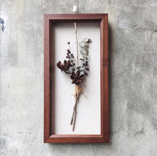 Zen floral design hand dried flower dried flower box frame Spot ...
