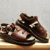 Tsubasa.Y 古著屋 咖啡色 003鉚釘馬汀涼鞋,Dr.Martens