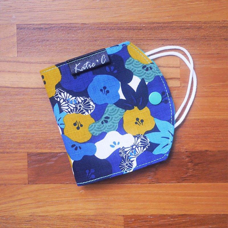 限量訂製款=口罩暫存套/口罩收納套=日本布料X優雅風格=秋意=藍