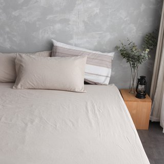 Natural washed cotton bed pillowcase - comprehensive