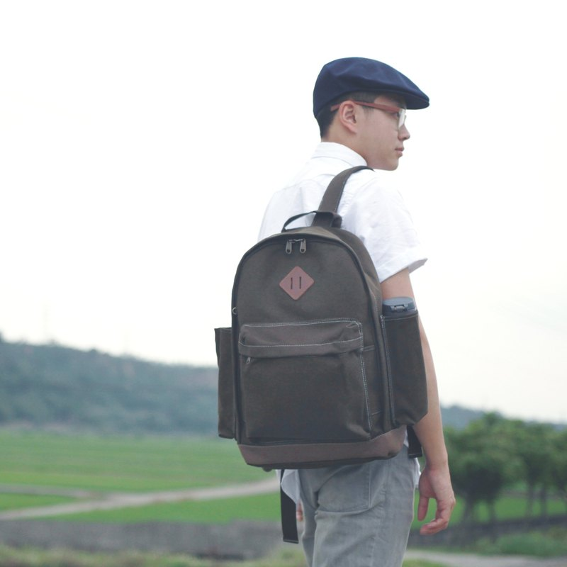 Canvas Stiff Large Classic Backpack