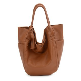 La Poche Secrete : Confident Girl's Shoulder Bag_Water-dyed Cowhide_Caramel Brown