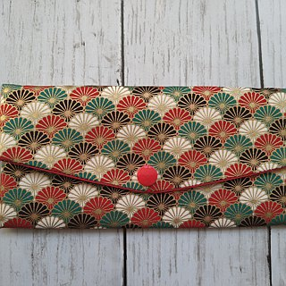 Lucky double red envelope bag / passbook storage bag (21 flower clusters)