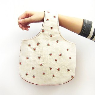 100% PURE pattern full of small shoulder bag / bag Edo [ladybug]