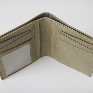 (Straight) Photo layer 7 card photo short clip wallet practical streamlined washed kraft paper