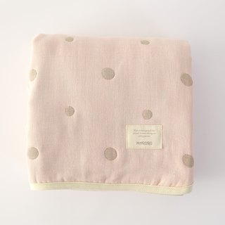 MARURU Five-layer gauze baby blanket  (L) Baby pink (Made in Japan)