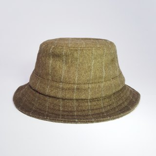 British disc gentleman hat - retro olive green (grey line) #毛料#限量#秋冬#礼物# keep warm
