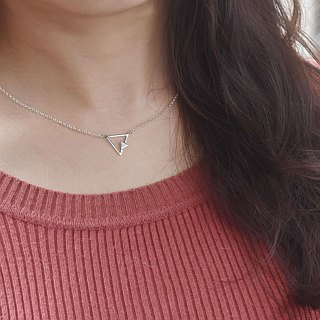 Nude - triangle double geometry (925 silver necklace) - C percent handmade