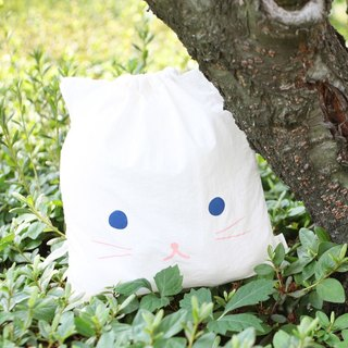 Livework animal party pouch S-white meow, LWK51868