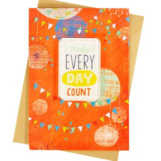 Make every day worthwhile [Hallmark - Creative Handmade Card Birthday Blessing]