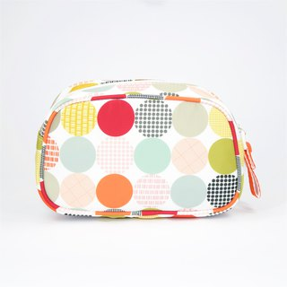 Ra Eco-friendly Super Light Waterproof Cosmetic Pouch (Muti-colour Dots)
