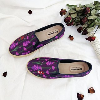 Fairytale casual shoes (Adult) - Romantic lavender women's shoes with Little Red Riding Hood and Big Wolf