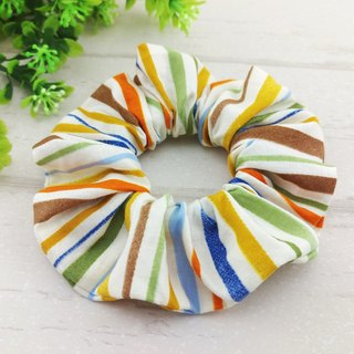 Retro stripes. Handmade donuts hair bundle / large intestine circle