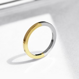 Two-Tone Minimal Ring | 24K Gold