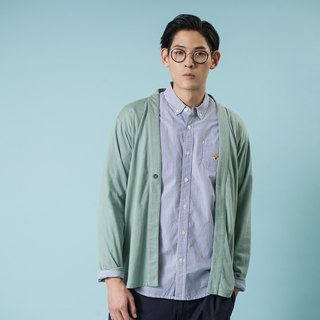 【Pjai】 Stripes Embroidery Shirt - Blue(ST800)