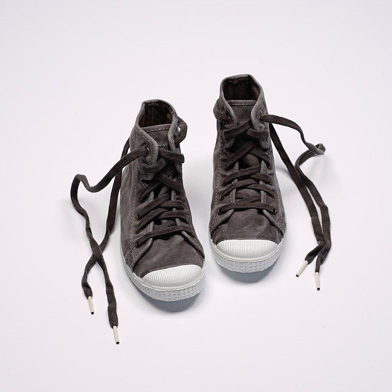西班牙帆布鞋 CIENTA 61777 23 淺灰色 洗舊布料 童鞋 高筒
