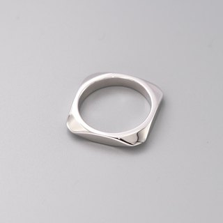 Square Silver Ring Square Ring