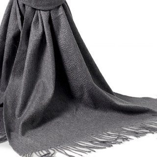 [ANGEL WOOLEN] CASHMERE thick shawl scarf (dark gray)