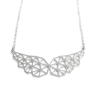 Abstract polygon wing necklace