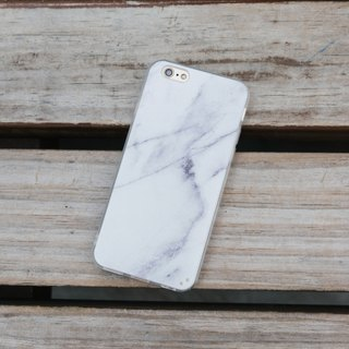 Original White Real Marble Phone case (iPhone,Samsung model) with hard shell bac