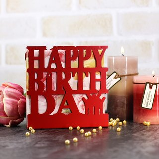(Red) / European style napkin holder / postcard / photo frame / creative small material / three-dimensional practical birthday card / birthday gift LE-hb28 (R)
