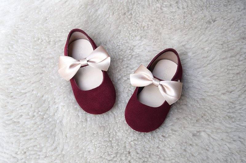 ae98b2562dd6 Wine red baby shoes leather toddler shoes girls shoes age gift female baby  gift age photo - Designer Cria