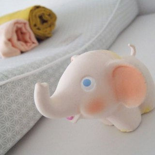 Spain Oli&Carol Classic Animals - Baby Elephant - Natural Non-toxic Rubber Stuffers / Bath Toys