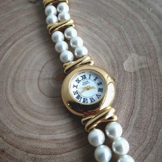Anne Klein imitation pearl bracelet antique female watch elegant temperament