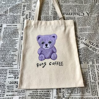 Hand-painted design bear tote exchange gift unique