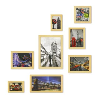 HomePlus Photoframe LightBrown 8PCS City Decor Loft