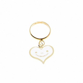 """Heart dream brand"" dream of metal jewelry series - white smile love ring"