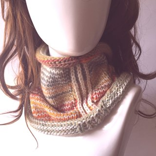 Time is not good medicine warm woven neck / woven scarf / wool scarf [Rainbow color]〗 〖jump house crazy hand