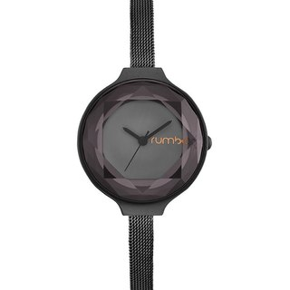 {Rumba Time} New York fashionable watch brand Orchard Gem Mesh- Black Diamond