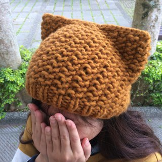 Ms. Forest Handmade Knitting - Red Cat's Ear Hat