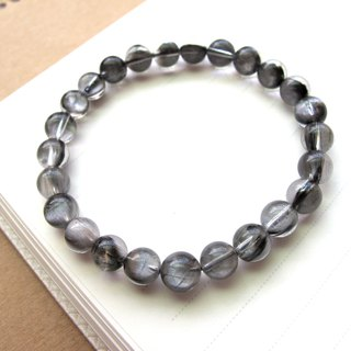 [Silver titanium crystal] 7mm silver titanium crystal - hand-created natural stone series