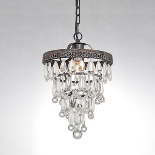 Country style glass bronze for old chandelier