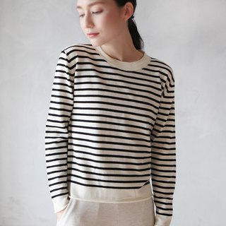 KOOW Abbey Road Striped Sweater Worsted Wool Knit Pullover
