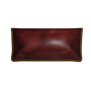 Hand-held storage box / hand dyeing / double needle hand sewing / custom / Italian vegetable tanned leather