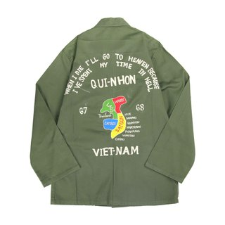 Tsubasa.Y vintage ancient military shirt Vietnam map 014 ,