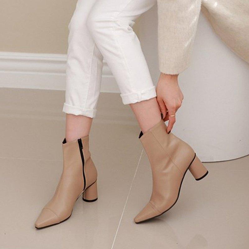 PRE-ORDER 韓國人手製 MACMOC Latte (Beige) 短靴